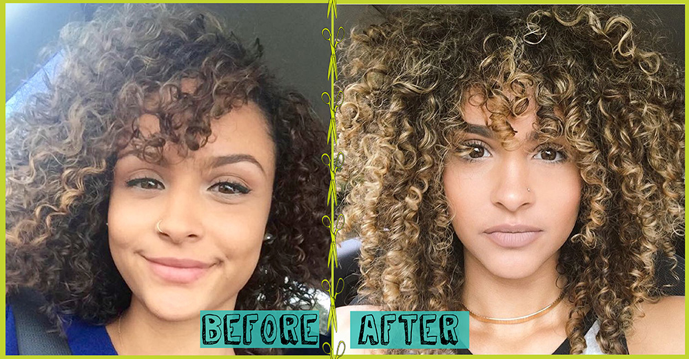 Curly Method Before And After