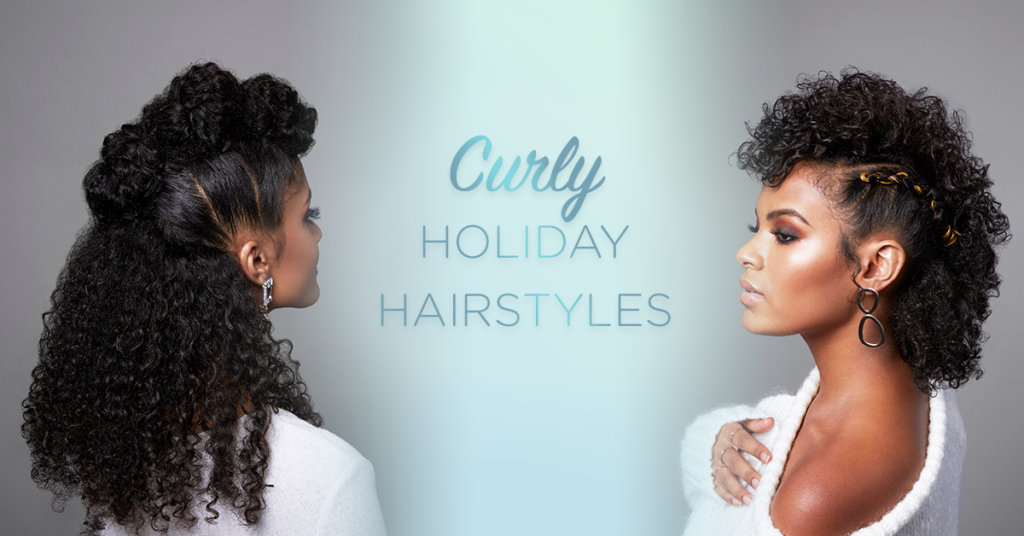 Devacurl Blog The Best Holiday Hairstyles For Curly Hair